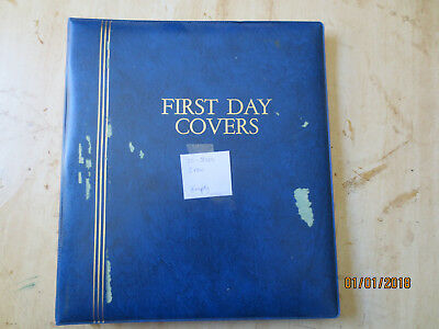 No-51 - FDC  ALBUM  HUGE  20  PAGES  DOUBLE  SIDED -3  RING  BINDER--GOOD ORDER
