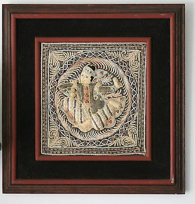 Original framed cloth relief ..... vintage Pakistan or from India