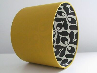 Monochrome Black White Acorn Spot Leaf Lined Lampshade Mustard Choice of Colours