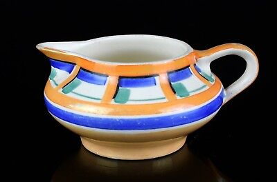 SUSIE COOPER for GRAYS POTTERY 1930s ART DECO GEOMETRIC BANDED MILK TEA JUG 7190