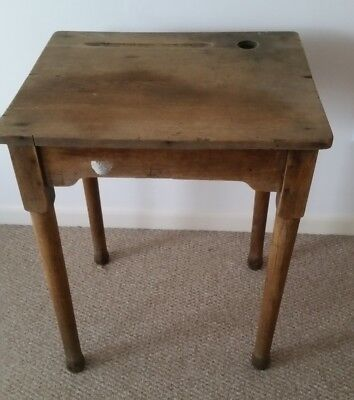 Old School Desk In Solid Oak