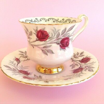 1960s Blushing Pink PARAGON  DUO Cup & Saucer By Appointment English Bone China