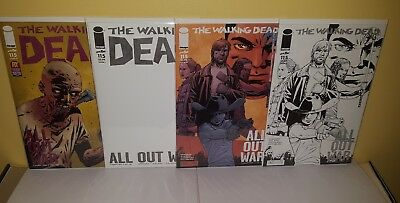 The Walking Dead #115 Cover O L M N Variant Set (Midnight B&W Sketch NYCC PX)