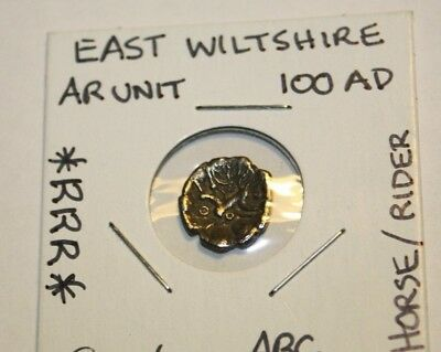 Celtic East Wiltshire Silver Unit::horse And Rider::extremely Rare:::rrr