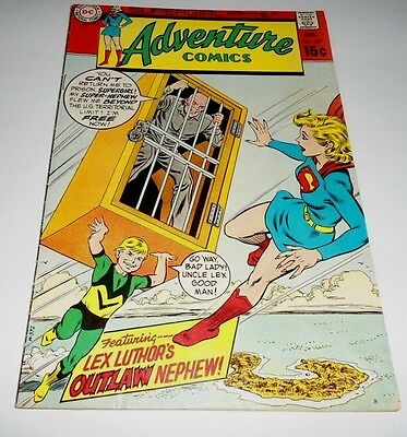 Adventure Comics # 387 Vg/fn (1969 Dc) Lex Luthor's Outlaw Nephew !
