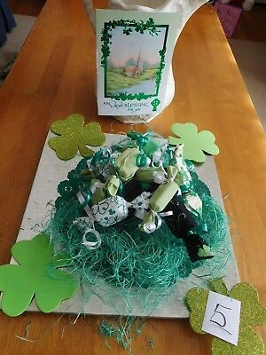 Primitive St Patrick's Day Green/green Print Candy Bowl Fillers Set Of 11   #5