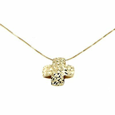 Lucchetta - Cross pendant Gold Necklace Women with Diamond effect Crucifix Gold