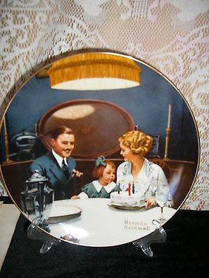 The Birthday Wish Ltd Ed. Knowles Rockwell Light Campaign series Plate #6