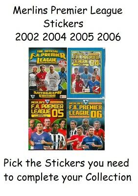 Merlin Topps Premier League 2005 2012 2013 Pick the stickers you need