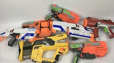 HUGE !! 7 Nerf Gun Lot. Everything Tested and Works