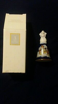Avon 1992 Porcelain Christmas Bell Heavenly Notes--New--Ships In 1 Day