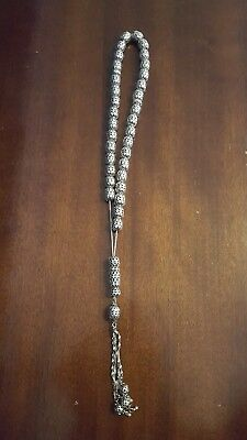 Solid sterling silver worry beads /mala