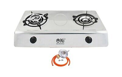 Portable Camping Gas Stove 2 Double Burner Cooker Cooktop Hob LPG NJ-200 UK
