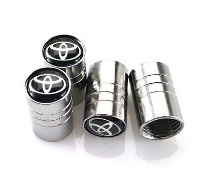 Universal Car Wheel Tire Air Valve Stems Caps Dust Cover Logo Emblem For TOYOTA