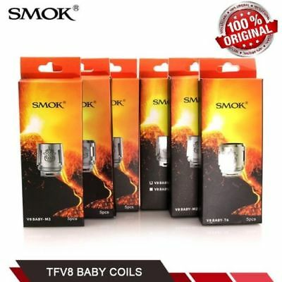 5-Pack Authentic SMOK TFV8 Baby / Big Baby Beast Coils V8 / Q2 / X4 / T8  US