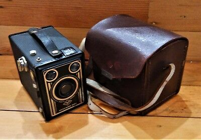 vintage AGFA SYNCRO BOX German camera 1950 FULL LEATHER SHOULDER BAG CASE