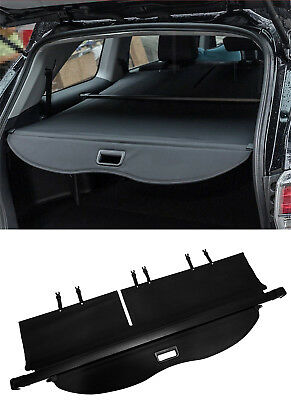 For Toyota Highlander 2014-2019 Retractable Black Cargo Luggage Rear Trunk Cover