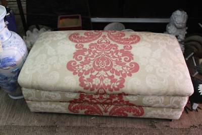 An Upholstered French Ottoman on Castors - Footstool - Pouf