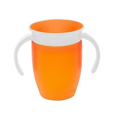 Munchkin Miracle 360 Degree Orange Trainer Cup 7oz 207ml Toddler Cup Drinking
