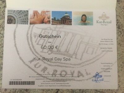 Gutschein Kur-Royal Day Spa in Bad Homburg Wert 60€