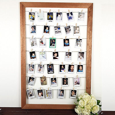Timber Instax Polaroid Hanging Holder Frame for Wedding Birthday Guest Book Sign