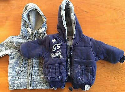 PUMPKIN PATCH 2 Zip Hoodies Very Good Used Condition 000 size 0-3 months