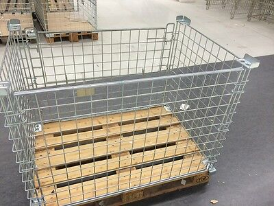 Grid Box Storage Boxes Industrial Stackable Euro Pallet Folding 10x