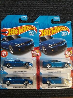 2018 Hot Wheels Nissan Skyline GT-R R33 LOT OF 4 JDM HTF New for 2018