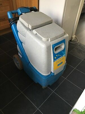 steempro 2000 carpet extraction machine with wands, hoses and chemicals