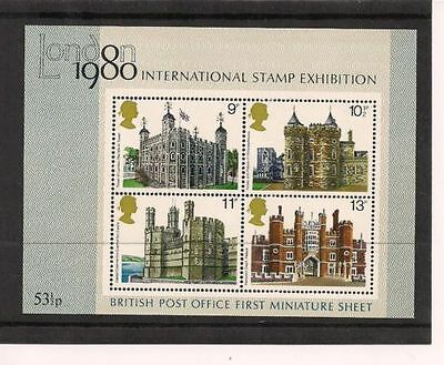 SG MS1058 1978 BRITISH ARCHITECTURE MINIATURE SHEET Unmounted Mint GB