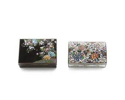 Two Japanese cloisonne boxes Lot 1239