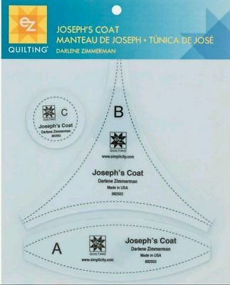 Joseph's Coat Template By Ez Simplicity Quilting Patchwork Sewing Crafting Bnew