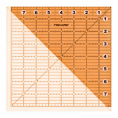 Fiskars Ruler Acrylic Folding Square Template/triangle 8 X 8 Inch Patchwork Bnew