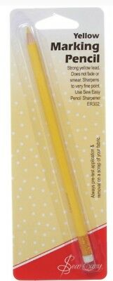 SEW EASY YELLOW MARKING PENCIL, FOR MARKING DIFFICULT TO SEE FABRICS SEWING bnew