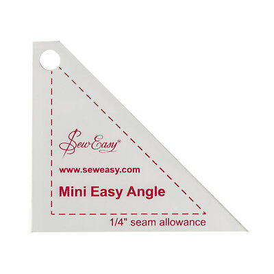 """SEW EASY MINI EASY ANGLE TRIANGLE TEMPLATE 2.87"""" x 2.5"""" PATCHWORK QUILTING,BNEW"""