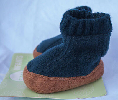 Circo infants non-skid sole slipper sock shoes size Med 6-12 months –blue– NWT