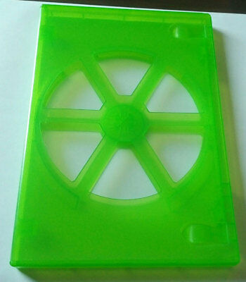 NEW! Green 100 Pk Viva Elite Premium 14 mm DVD Case Single Eco Box 1 Disc Holder