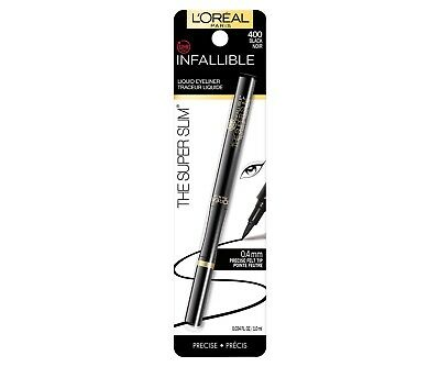 L'Oreal Paris Cosmetics Inflallible Never Fail Liquid Eyeliner Black 400