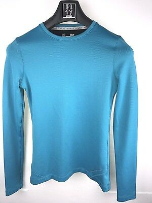Under Armour Womens fitted coldgear long sleeve teal blue t-shirt small   AA51.5