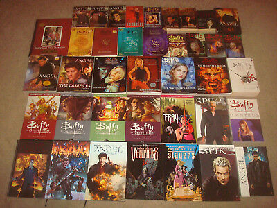 Buffy the Vampire Slayer Angel BOOK LOT Comic TPB Hardcover Guide Graphic Novel