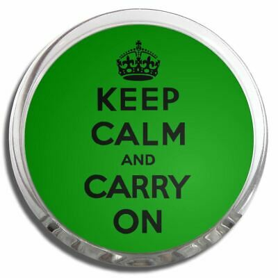 Green Keep Calm and Carry On | Plastic Fridge Magnet Memo Clip Fun New