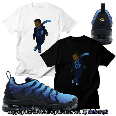 d00368e02a0 NEW CUSTOM T SHIRT matching NIKE AIR VAPORMAX PLUS RETUNED AIR blue AVP 1-1