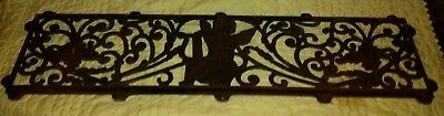 EXTREMELY RARE Vintage CHERUB ANGEL Ornate Cast Iron Park Garden Bench BACK ONLY