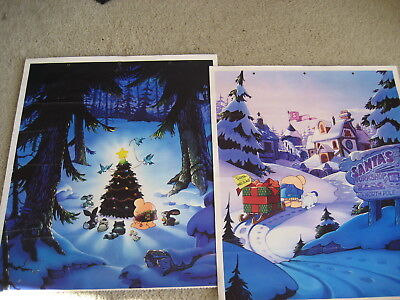 2 Christmas Themed Tom Wilson Ziggy Calendar pages