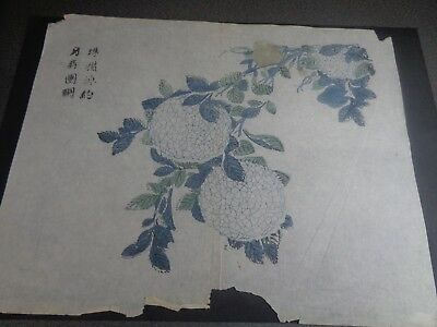 "1701 China - Page from a book called ""The Mustard Leaf Garden"" on Rice Paper"