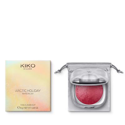 Kiko Arctic Holiday Baked Blush Fard A Joues Cuit N°03 Dangerous Cherry