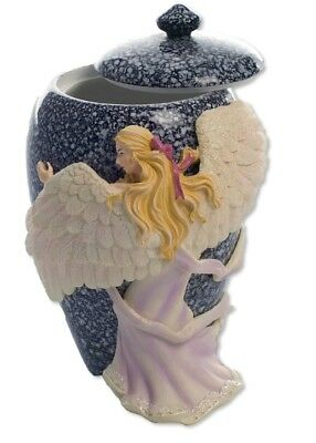 AngelStar Hand Painted Angel's Embrace Small Urn