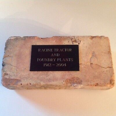 J I Case Commerative Brick from Racine Tractor and Foundry Plants 1912-2004