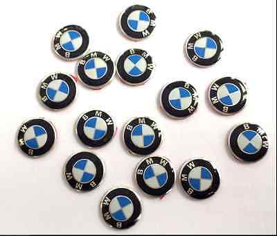 2 X Bmw Remote Key Fob Badge  Emblem Stickers 11Mm Wide For 1 3 5 6 7 M3 M5 X5