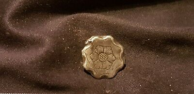 Very rare Stunning Post Medieval/Tudor rose Silver button found in England L538